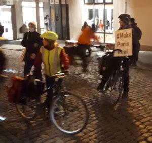 Ankunft der Fahrradstaffel Jena